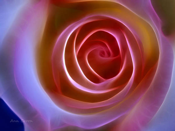 Floral Light Print featuring the digital art Floral Light by Ann Croon
