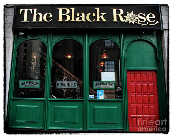 The Black Rose Of Boston Print featuring the photograph The Black Rose Of Boston by John Rizzuto