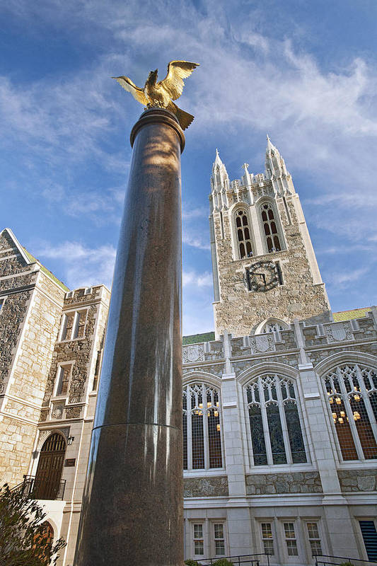 Gasson Hall Print featuring the photograph Boston College Gasson Hall by Replay Photos