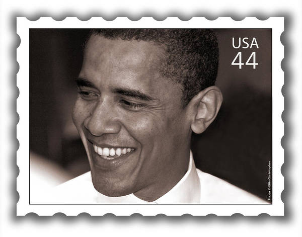 Barack Obama Print featuring the photograph Barack Obama Portrait. Photographer Ellis Christopher by Ellis Christopher