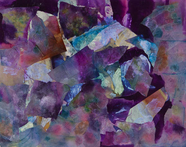 Purple Print featuring the painting Purple Passion by Don Wright