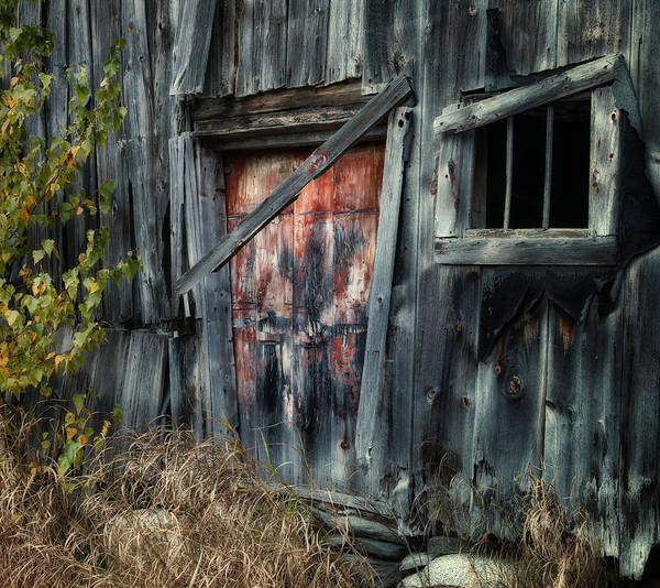 Old Barns Print featuring the photograph Crooked Barn - Rustic Barns Series by Thomas Schoeller