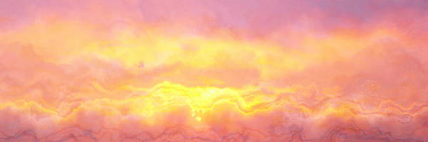 Abstract Art Print featuring the digital art Above The Clouds - Abstract Art by Jaison Cianelli