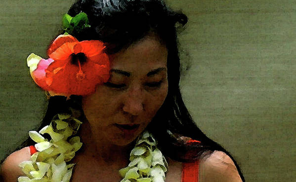 Hula Print featuring the photograph Flower Sign by James Temple