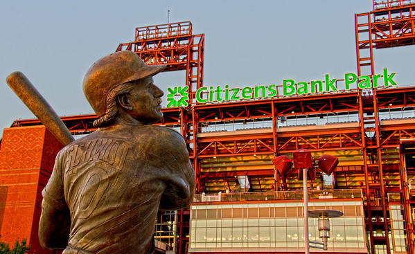 Phillies Print featuring the photograph Philadelphia's Legend by Michael Misciagno