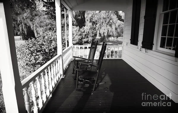Front Porch Chairs Print featuring the photograph Front Porch Chairs by John Rizzuto