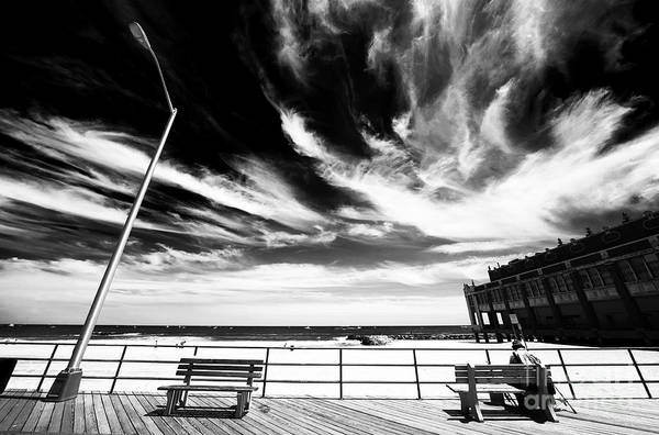 Asbury Park Print featuring the photograph Alone In Asbury Park by John Rizzuto