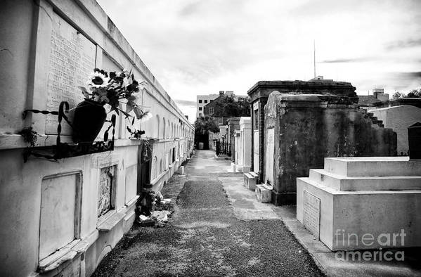 Cemetery Departed Print featuring the photograph Cemetery Departed by John Rizzuto