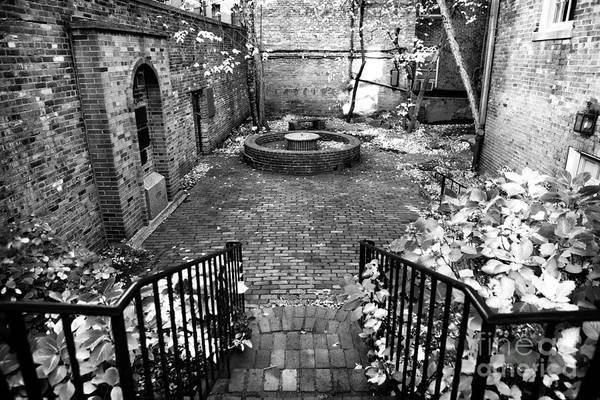 The Courtyard At The Old North Church Print featuring the photograph The Courtyard At The Old North Church by John Rizzuto