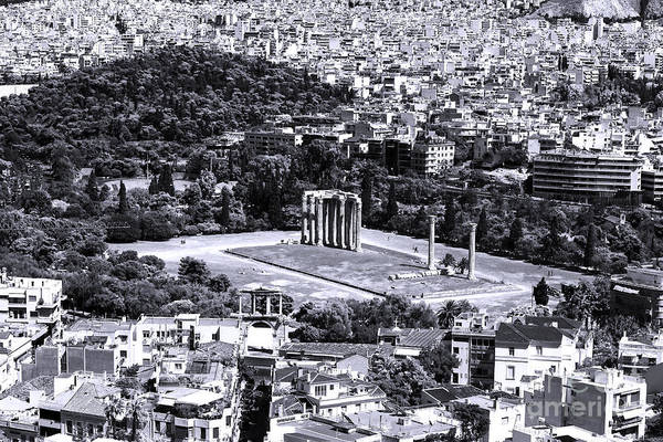 Athens Cityscape Iv Print featuring the photograph Athens Cityscape Iv by John Rizzuto