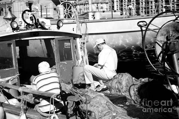 Fisherman Print featuring the photograph Fisherman by John Rizzuto