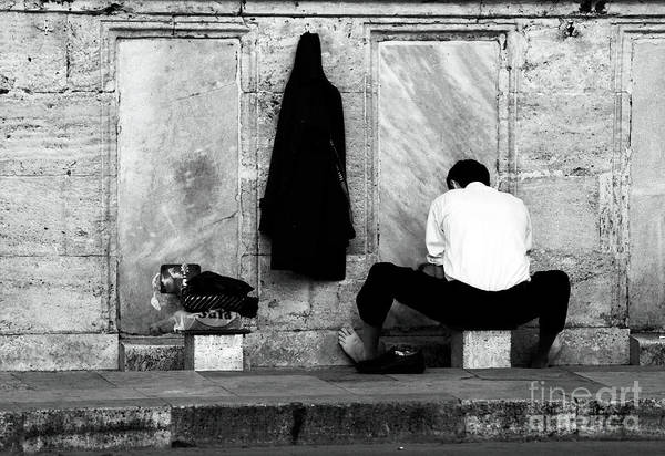 Man Print featuring the photograph Ablution by John Rizzuto