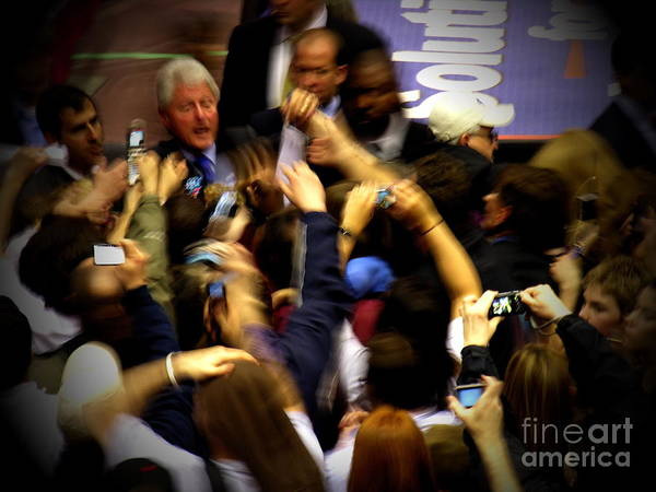 Bill Clinton Print featuring the photograph Bill Clinton At Muhlenberg College by Jacqueline M Lewis