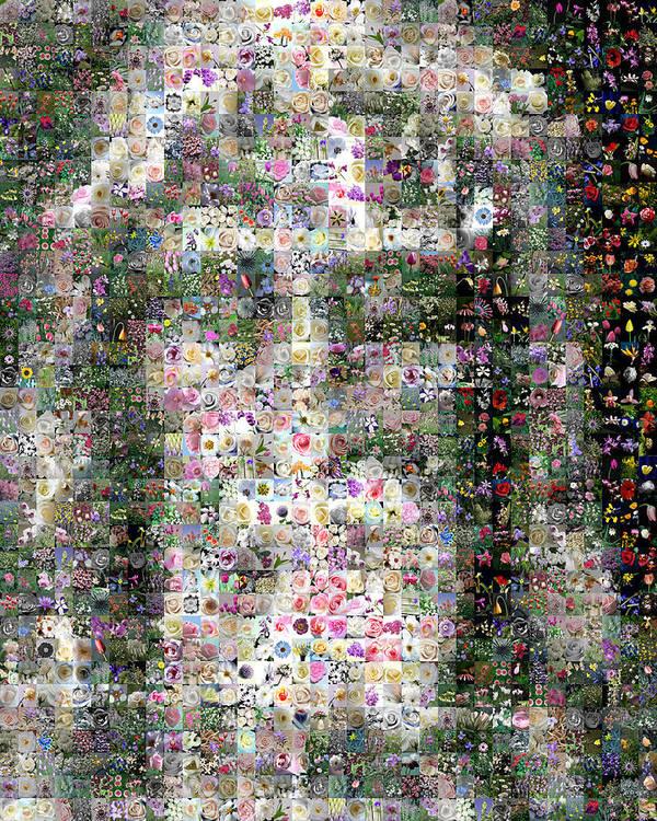 Mosaic Print featuring the digital art Shroud Of Turin by Gilberto Viciedo