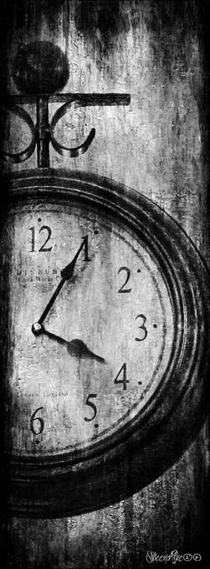 Clock Print featuring the digital art Time by Sheena Pike