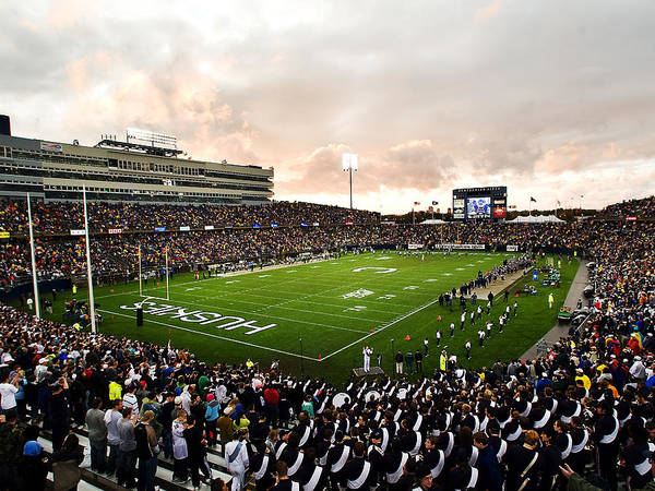 Rentschler Field Print featuring the photograph Uconn Rentschler Field by University of Connecticut