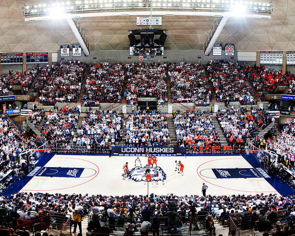 Storrs Print featuring the photograph Connecticut Huskies Harry A. Gampel Pavilion by Replay Photos