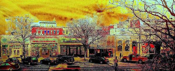Old Town Print featuring the photograph Old Town Panorama by Jeff Gibford