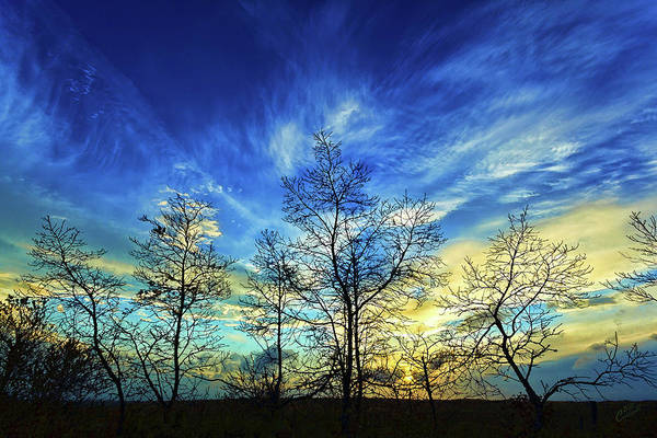 Nature Print featuring the photograph Autumn Sunset by ABeautifulSky Photography