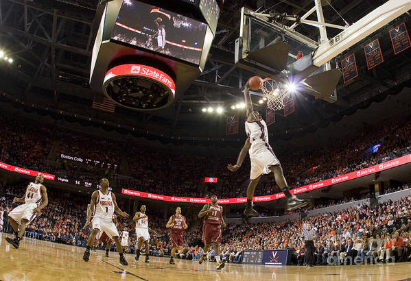 Athletics Print featuring the photograph Mamadi Diane Dunk Against Boston College by Jason O Watson