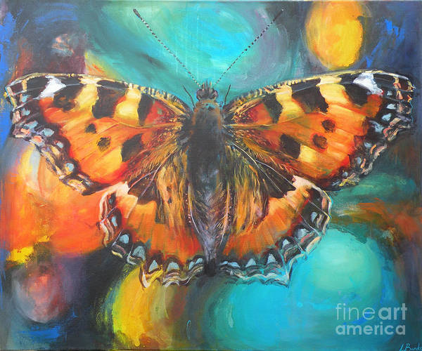 Butterfly Print featuring the painting Metamorphose by Leigh Banks