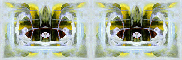 Abstract Print featuring the digital art Pond In Fairyland by Joe Halinar