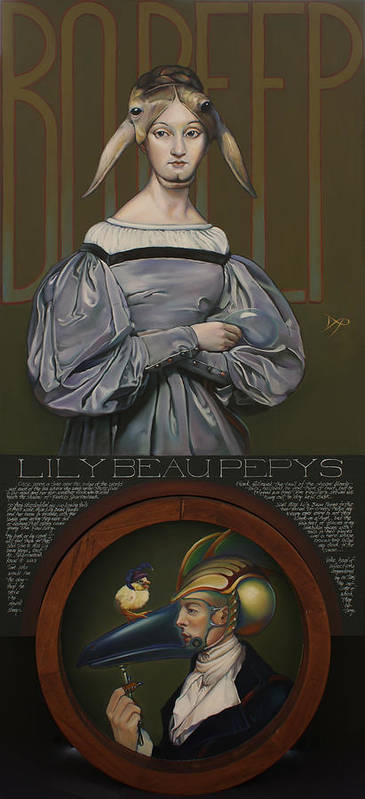 Sheep Print featuring the painting Lily Beau Pepys by Patrick Anthony Pierson