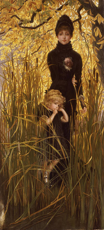 Portrait Print featuring the painting The Orphan by James Jacques Joseph Tissot