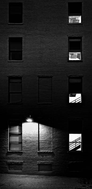 Architecture Print featuring the photograph Back Alley 330am by Bob Orsillo