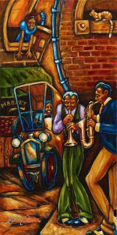 African American Artwork Print featuring the painting On The Sunnyside by Daryl Price