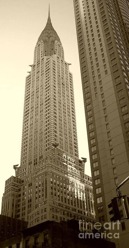 New York Print featuring the photograph Chrysler Building by Debbi Granruth