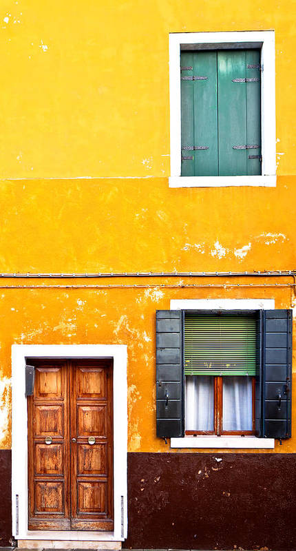 Door Print featuring the photograph Colorful Entry by Susan Schmitz