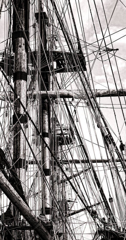 Sailing Print featuring the photograph Rigging by Olivier Le Queinec