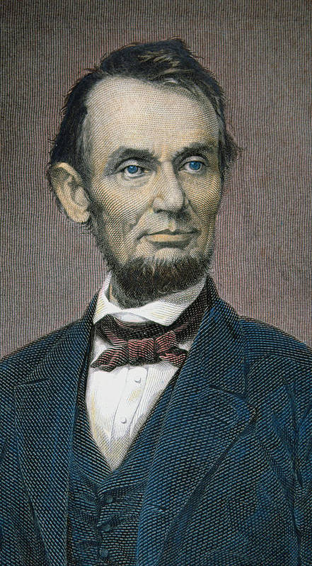 Statesman Print featuring the painting Abraham Lincoln by American School