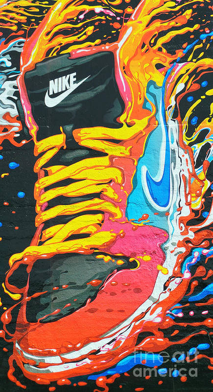 Shoes Print featuring the photograph Burning To Do It In Portland by David Bearden