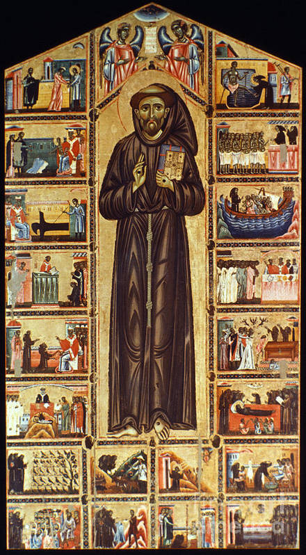 12th Century Print featuring the painting St Francis Of Assisi by Granger