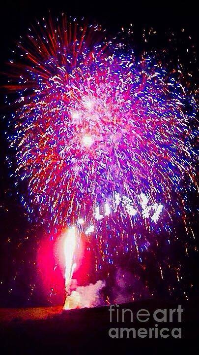 4th Of July Print featuring the digital art Colorado Fireworks by Trisha Buchanan