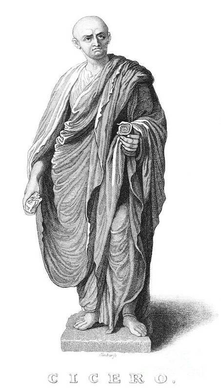 1st Century B.c Print featuring the photograph Marcus Tullius Cicero by Granger