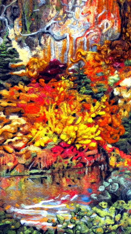 Felt Print featuring the tapestry - textile Detail Of Fall by Kimberly Simon