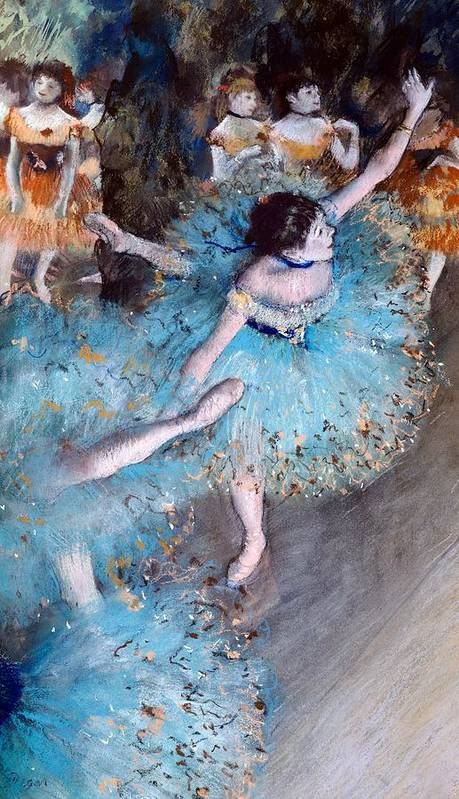 Art Print featuring the painting Ballerina On Pointe by Edgar Degas