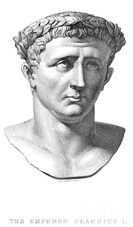 1st Century Print featuring the photograph Claudius I (10 B.c.-54 A.d.) by Granger