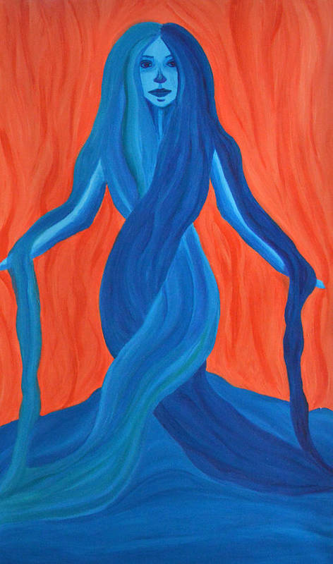 Mary Print featuring the painting Mary - Mother Of Earth - Mother Of Light by Daina White