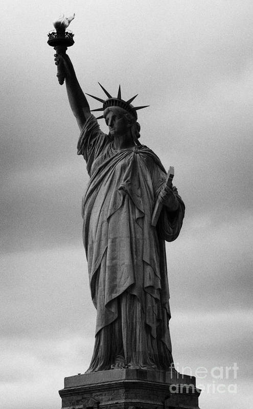 Usa Print featuring the photograph Statue Of Liberty New York City Usa by Joe Fox