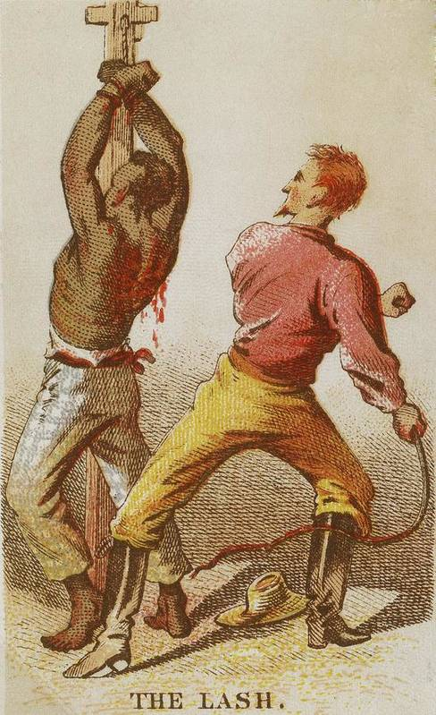History Print featuring the photograph African American Slave Being Whipped by Everett