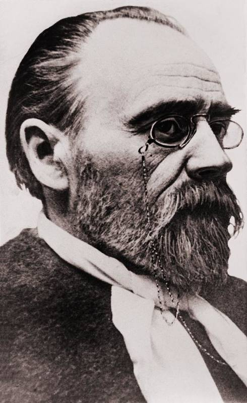 Historical Print featuring the photograph Emile Zola 1840-1902, French Novelist by Everett