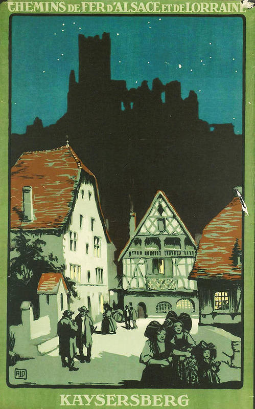 Agriculture Print featuring the digital art Kaysersberg Alsace by Georgia Fowler
