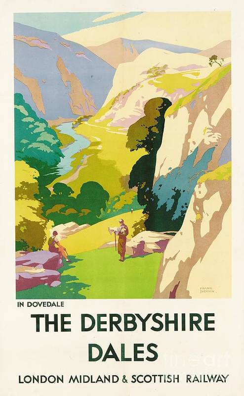 'the Derbyshire Dales' Print featuring the painting The Derbyshire Dales by Frank Sherwin