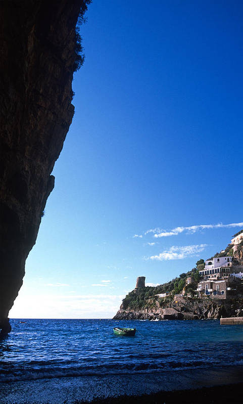 Praiano Print featuring the photograph View Of Praiano Italy by Cliff Wassmann