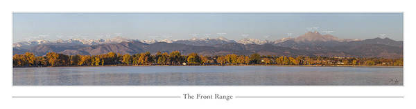 Front Print featuring the photograph Front Range With Peak Labels by Aaron Spong