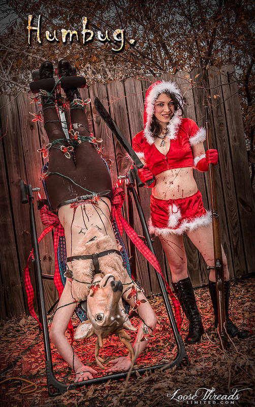 Abnormal Print featuring the photograph Reindeer Slay by Steven Walker
